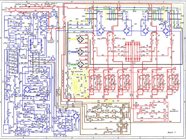 Рассмотрены электрические схемы современных тепловозов ЗТЭ10М, ЗТЭ10У, 2ТЭ10У и 2ТЭ10У, 2ТЭ10М.