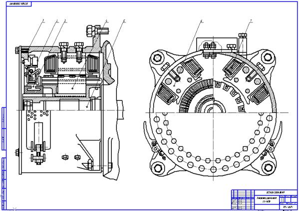 Устройство и ремонт генератора тока управления ДК К Чертеж генератора ДК 405К