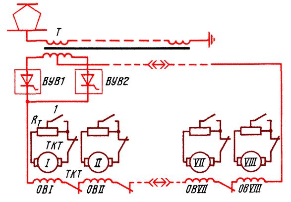 Упрощенная схема силовой цепи
