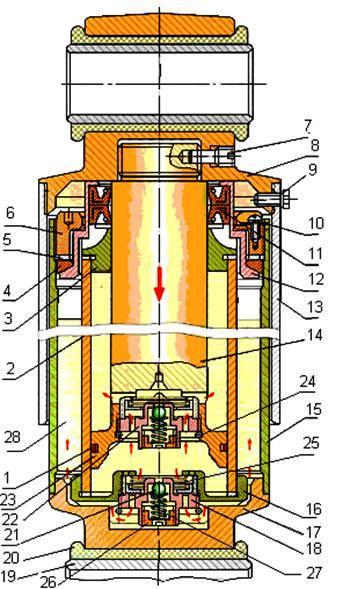 Гидравлический гаситель колебаний