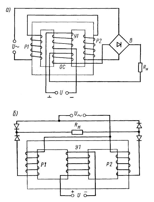 Схемы усилителей с обратной связью.
