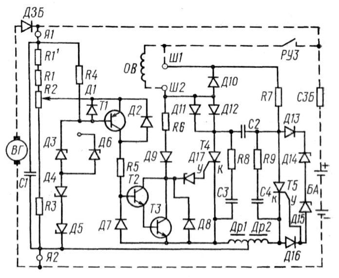 Схема электрическая краз 6510.